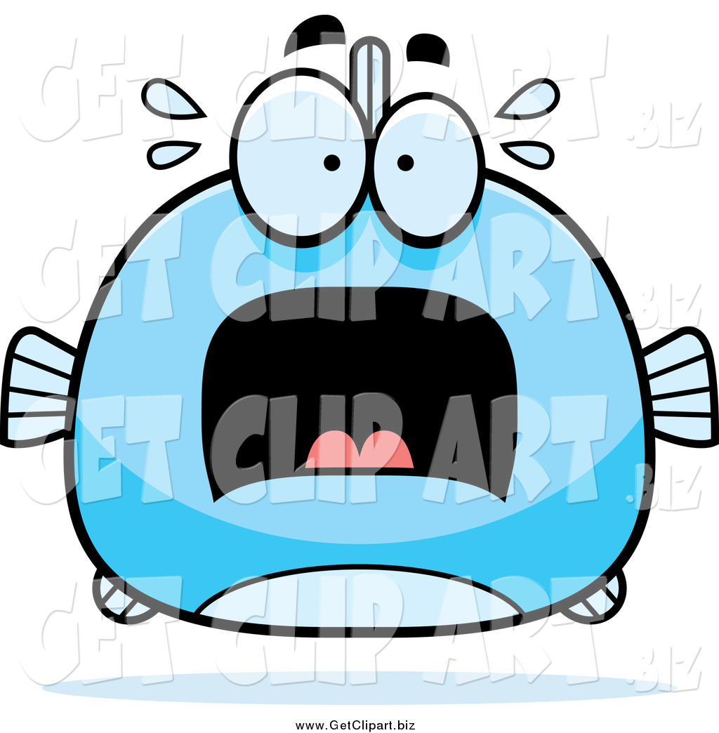 1024x1044 Clip Art Of A Chubby Screaming Blue Fish By Cory Thoman