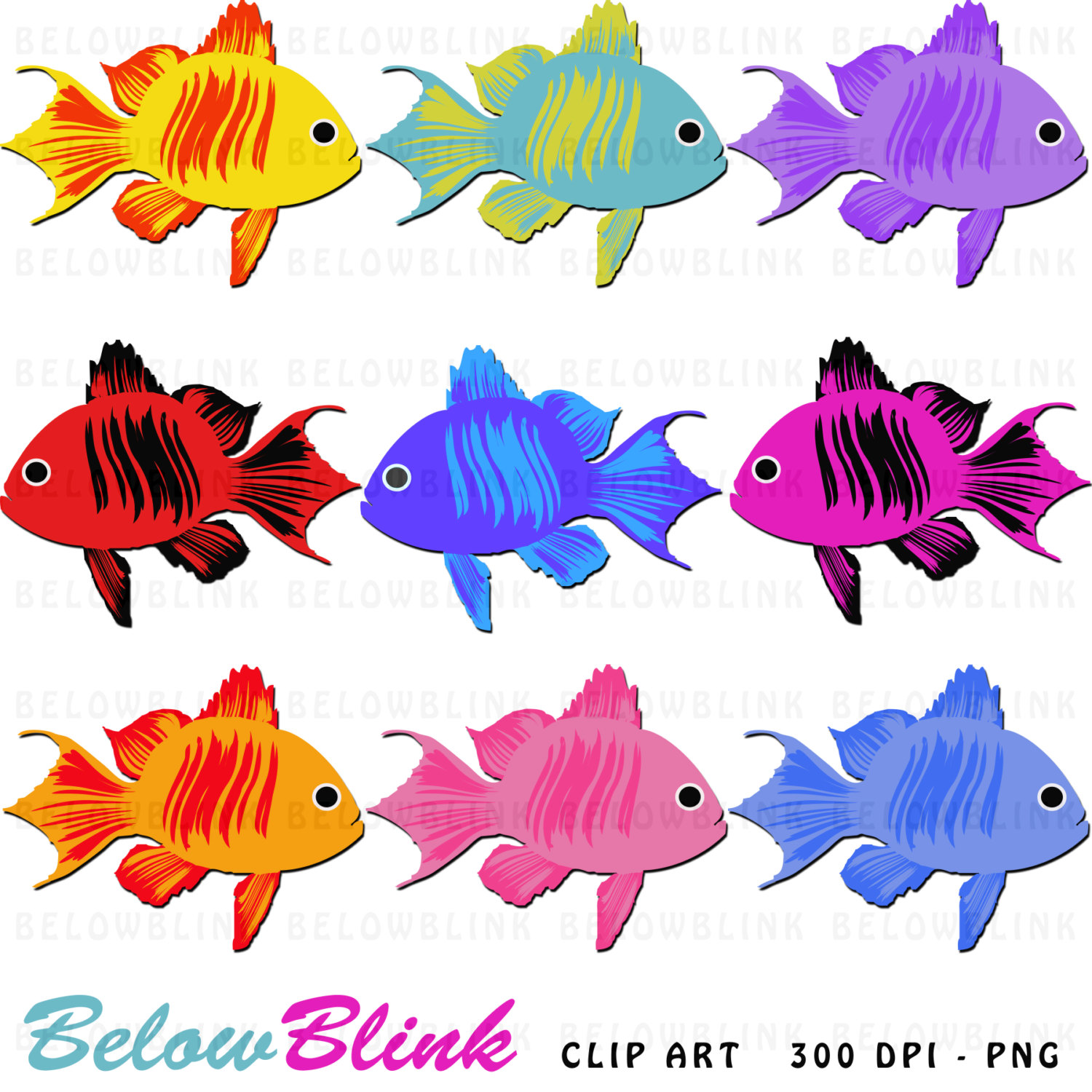 1500x1500 Collection Of Colored Fish Clipart High Quality, Free