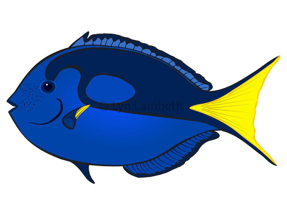 1000x750 Fish Clip Art Instant Download Blue Tang Clipart Commercial
