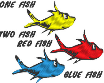 340x270 One Fish Two Fish Red Fish Blue Fish Clipart