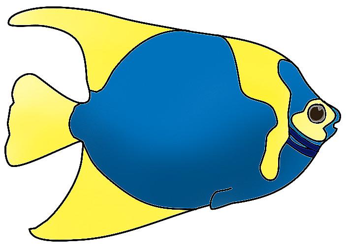 703x505 Cute Blue Fish Clipart New
