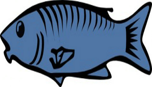 490x280 Blue Fish Clip Art Clipart Panda