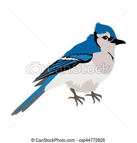 450x470 Blue Jay Flat Design Vector Illustration. Blue Jay Vector