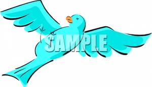 300x172 Jay Clipart Flying Blue