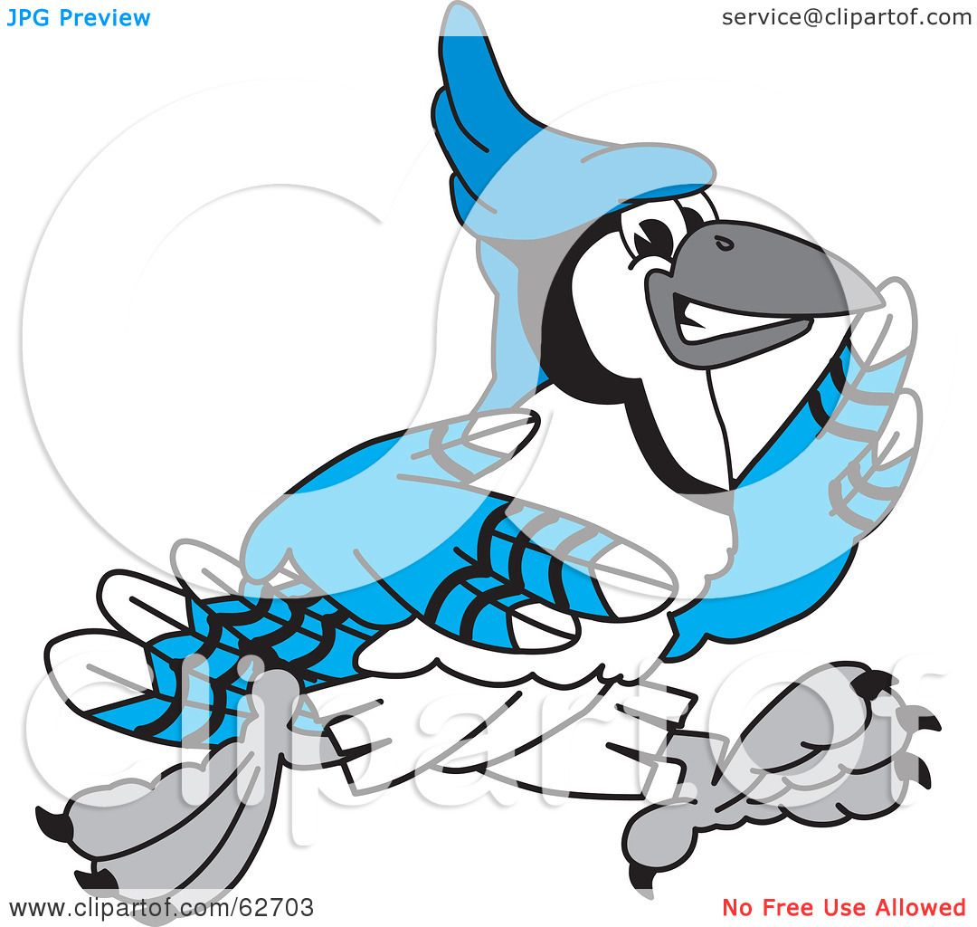 1080x1024 Royalty Free (Rf) Clipart Illustration Of A Blue Jay Character