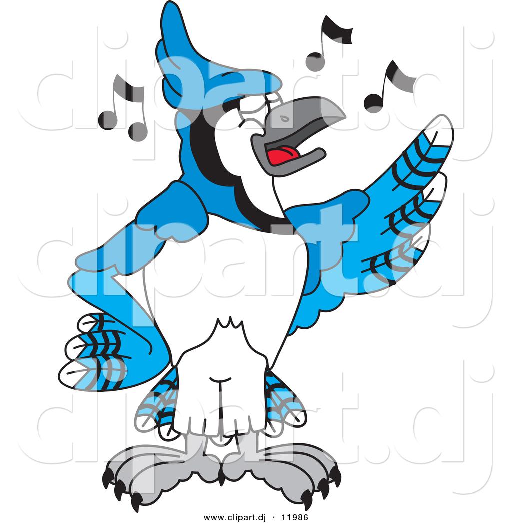 1024x1044 Vector Of A Cartoon Blue Jay School Singing By Toons4biz