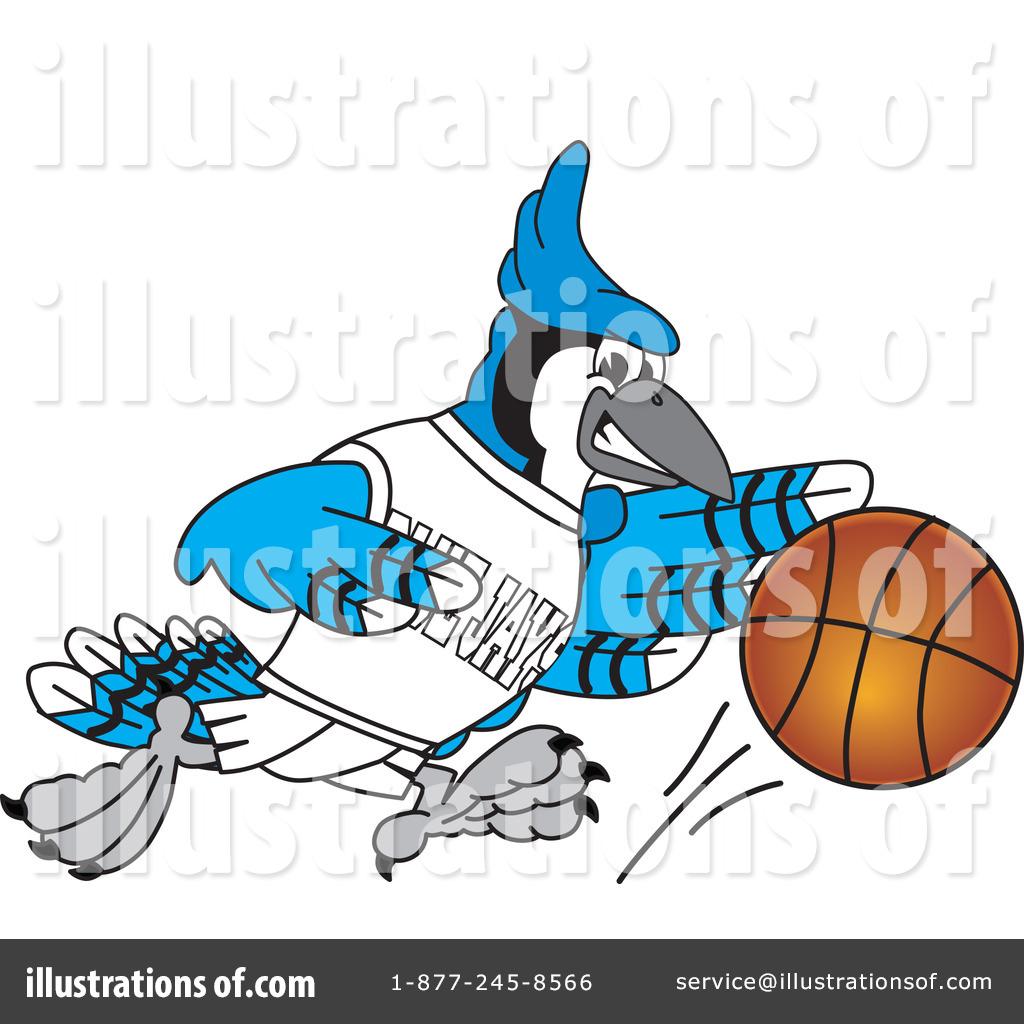 1024x1024 Blue Jay Mascot Clipart