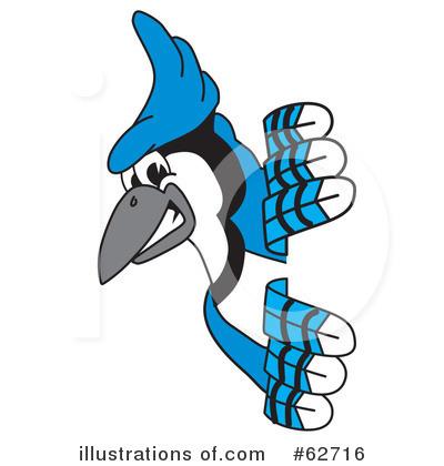 400x420 Blue Jay Mascot Clipart