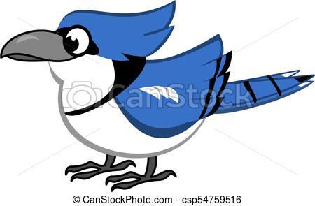450x295 Blue Jay Cartoon. Bird Cartoon Of Blue Jay Vector Clip Art