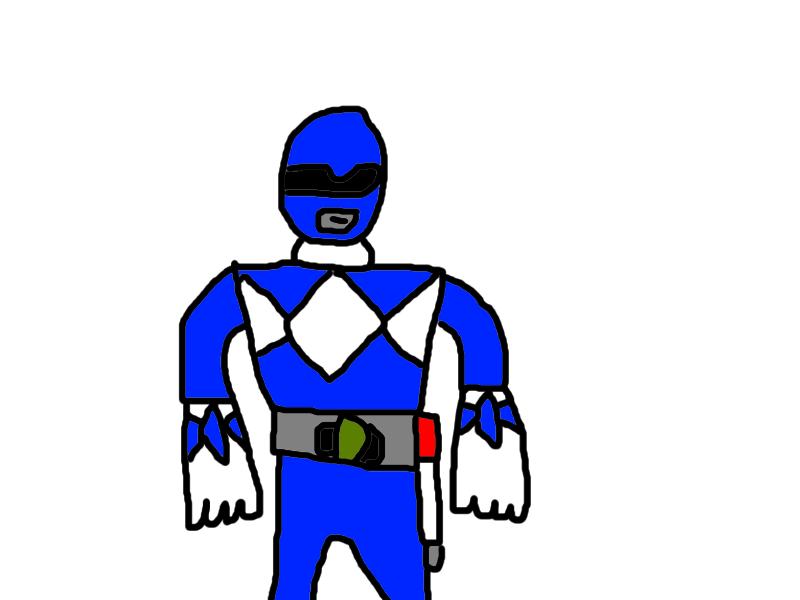800x600 Blue Power Ranger By Catcruncher