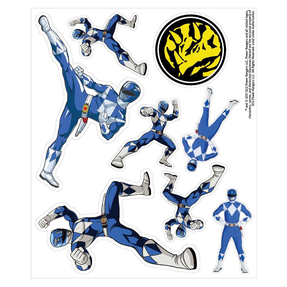 1001x1001 Mighty Morphin Power Rangers Blue Ranger Decal Car Stickers Value