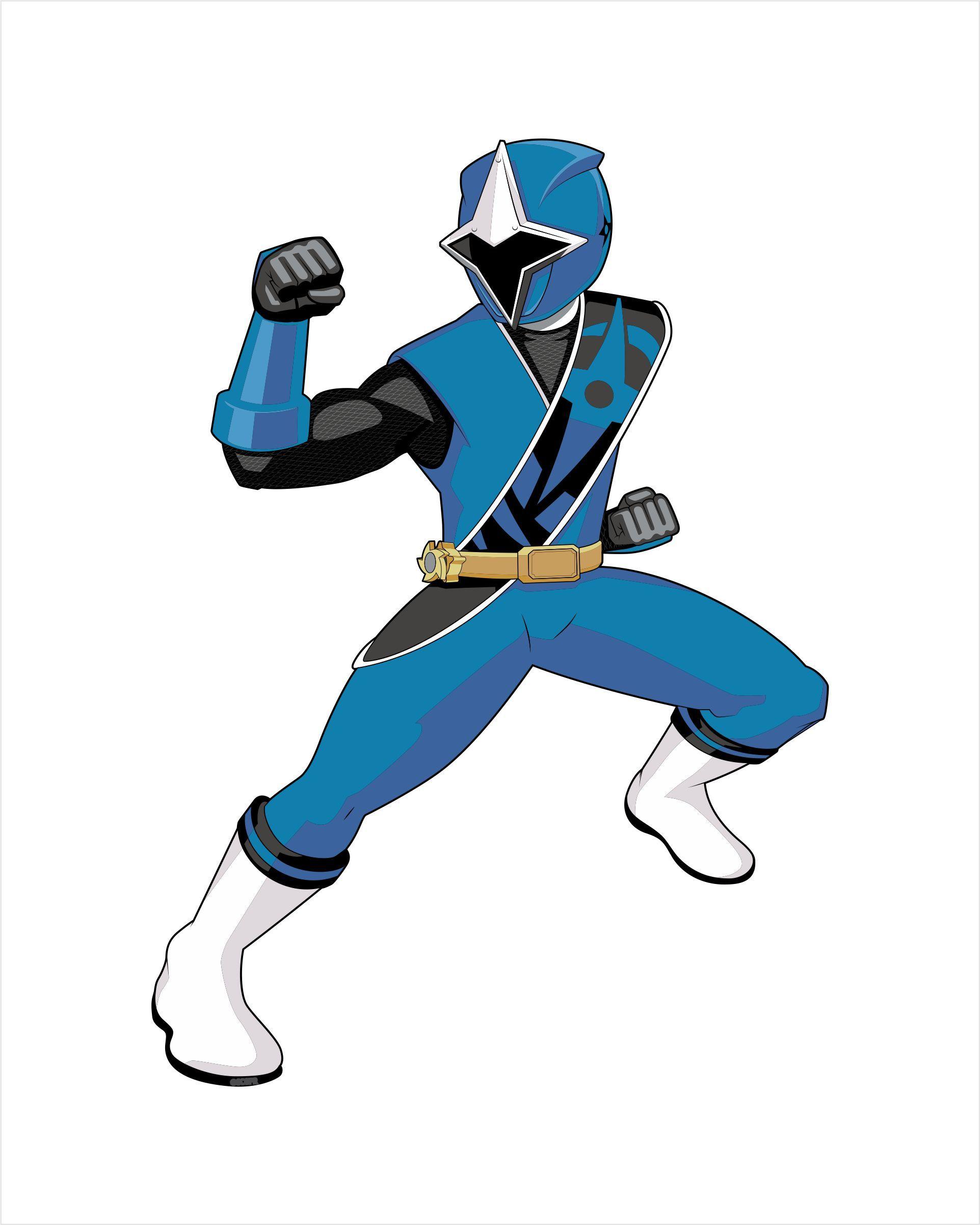 1923x2403 Power Rangers Ninja Steel Blue Ranger Wall Decal Decalcomania