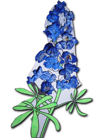 432x576 Bluebonnet Petal Clipart