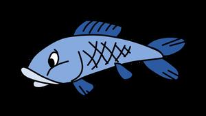 300x169 10842 Simple Fish Outline Clip Art Public Domain Vectors