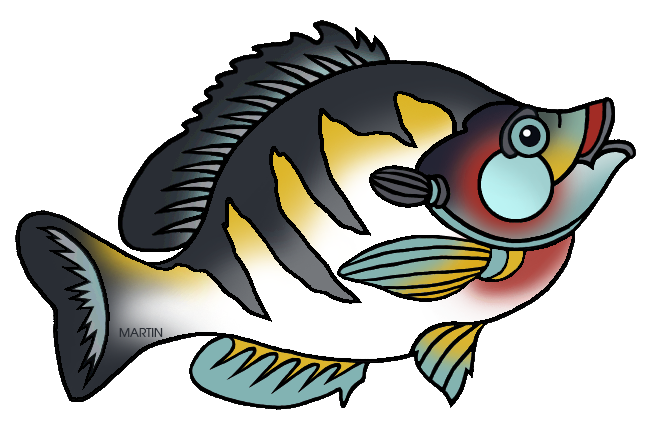 648x426 United States Clip Art By Phillip Martin, State Fish Of Illinois