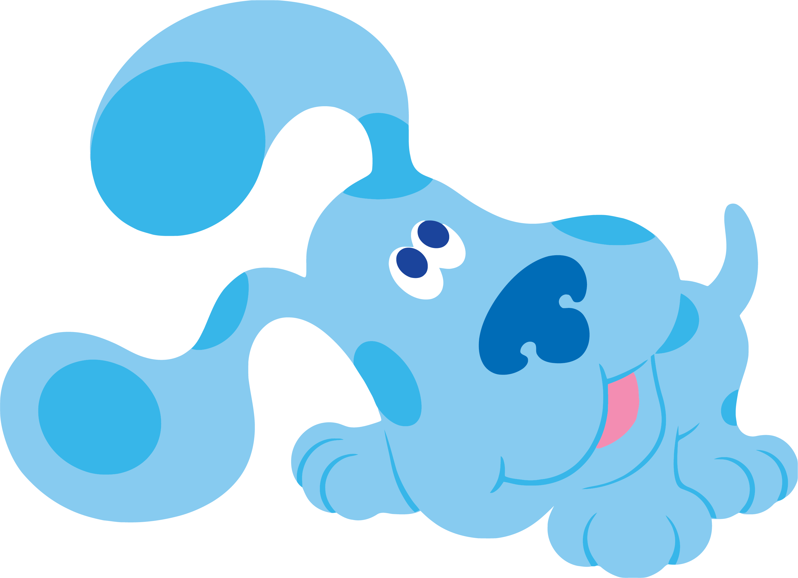 2741x1986 Blue's Clues Clip Art Playing Clipart Png