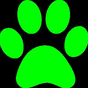 299x297 Blues Clues Green Paw Clip Art