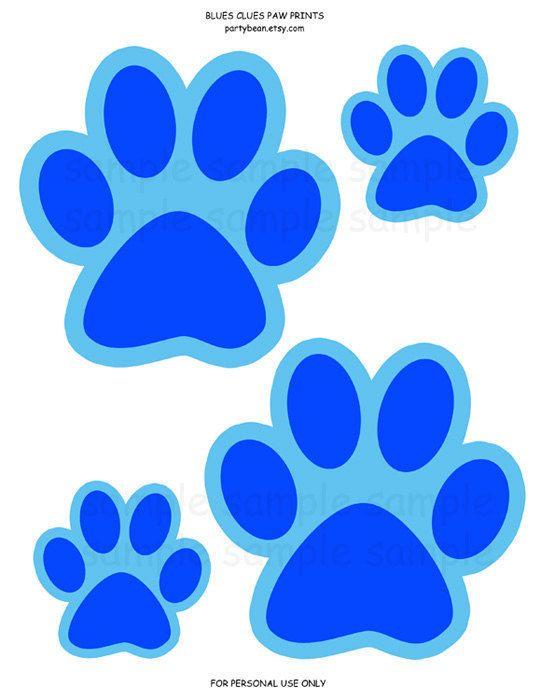 541x700 Blues Clues Paw Prints (Blue)