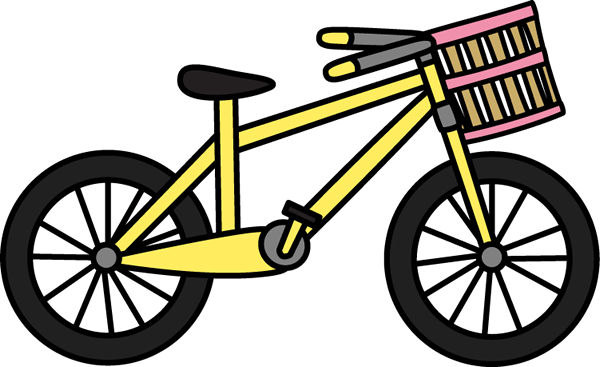 600x367 Bicycle With Basket Clip Art