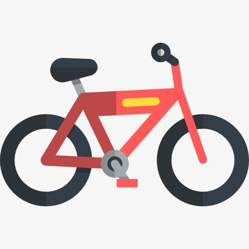 512x512 Red Bike, Bicycle, Work Out, Movement Png Image And Clipart