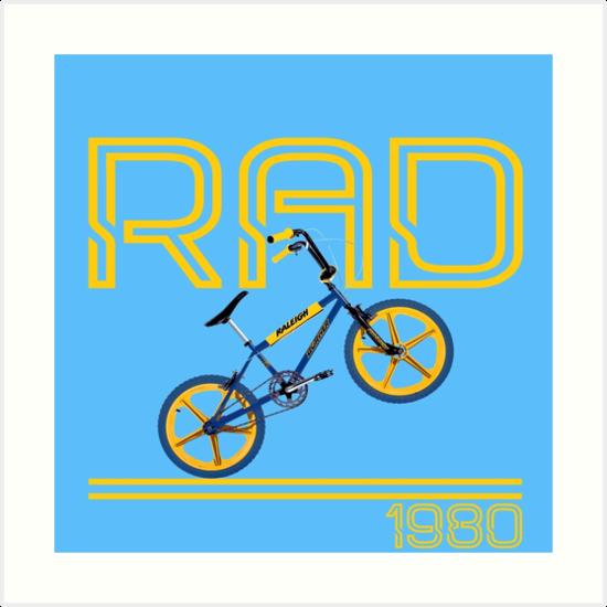 550x550 Retro 80's Bmx Bike Art Prints By Imagemonkey Redbubble