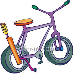 296x300 A Purple Bike And A Bike Pump