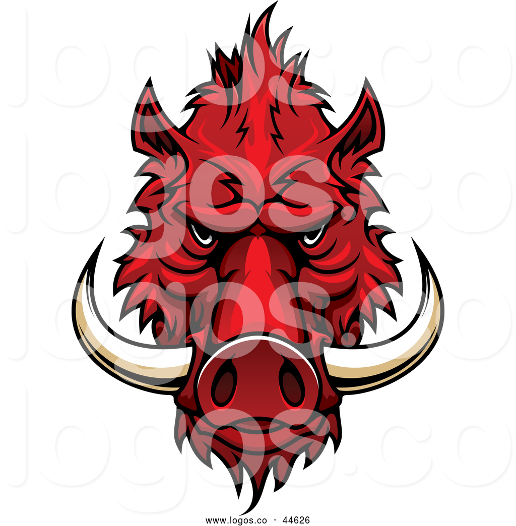 1024x1044 Logo Of A Fierce Red Boar Mascot By Vector Tradition Sm