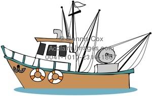 300x189 Clipart Illustration Fishing Boat