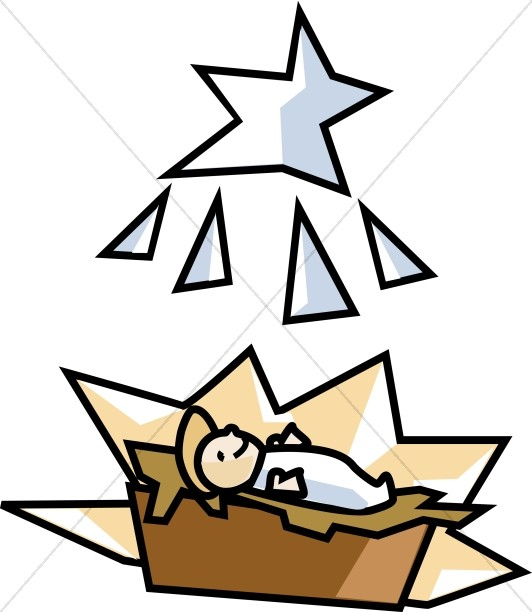 532x612 Baby Jesus Born In A Manger Baby Jesus Clipart
