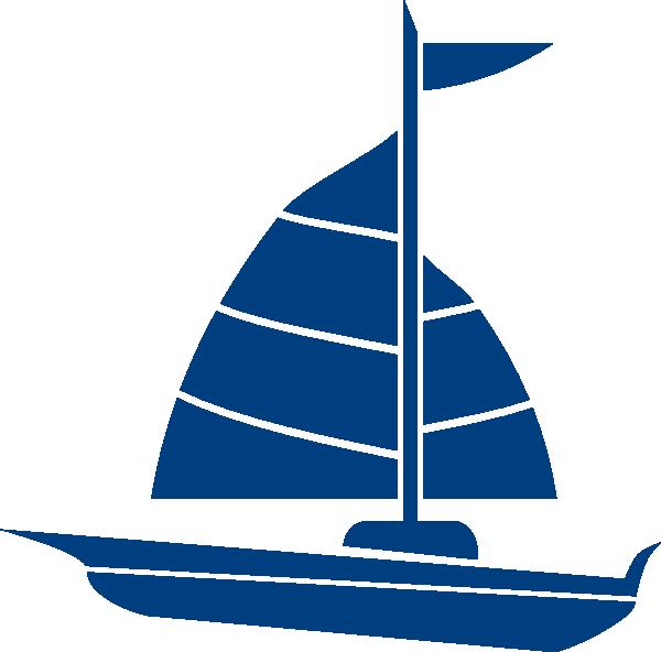 600x592 Sailboat Blue Clip Art