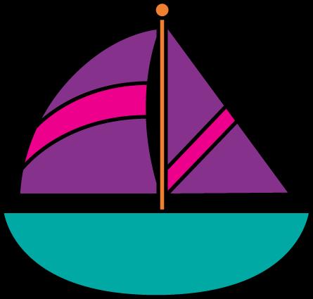 445x425 Sailboat Clip Art