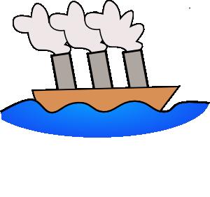 300x282 Steamer Boat Clip Art Free Vector 4vector
