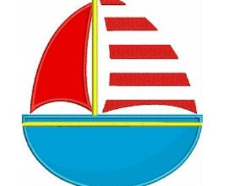 340x270 Simple Sail Boat Clipart