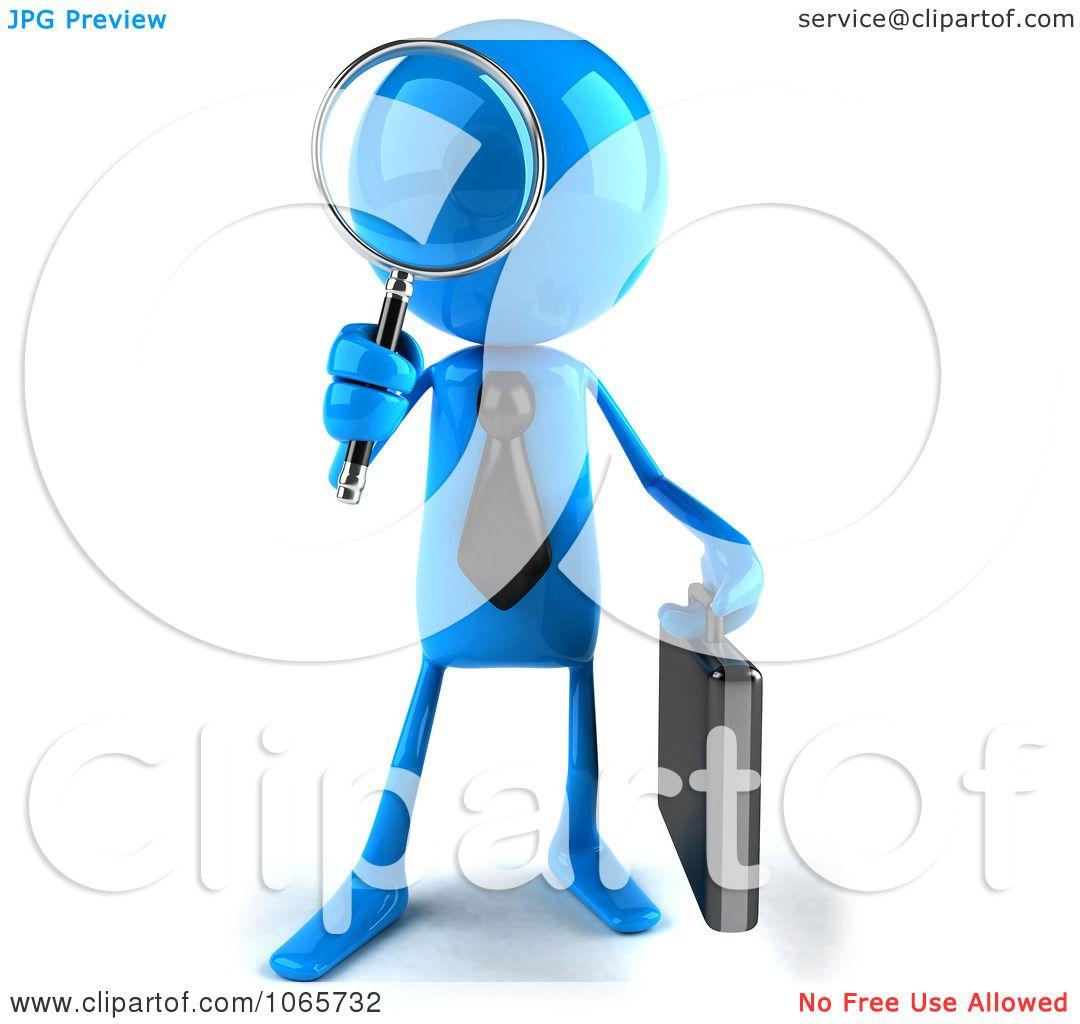 1080x1024 Clipart 3d Blue Bob Businessman Searching 1