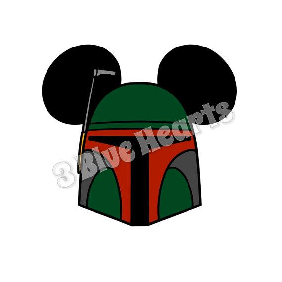 570x570 Boba Fett Star Wars Mickey Head Svg Dxf Pdf Studio Star Wars