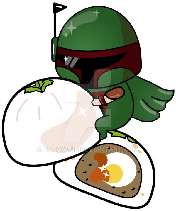 600x720 Boba Fett With Boba Buns By Barovlud