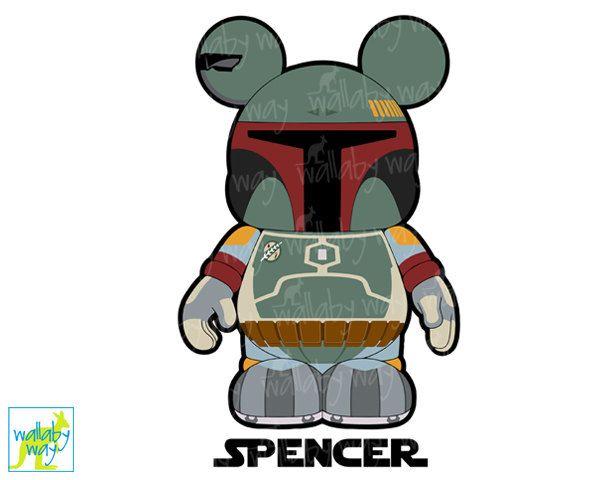 600x480 Disney Star Wars Boba Fett Mickey Printable Iron On Transfer