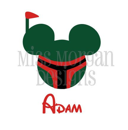 432x438 Personalized Star Wars Boba Fett Mouse Disney Iron By Missmorgan