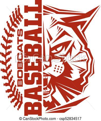 393x470 Bobcats Baseball Team Design With Stitches And Half Mascot