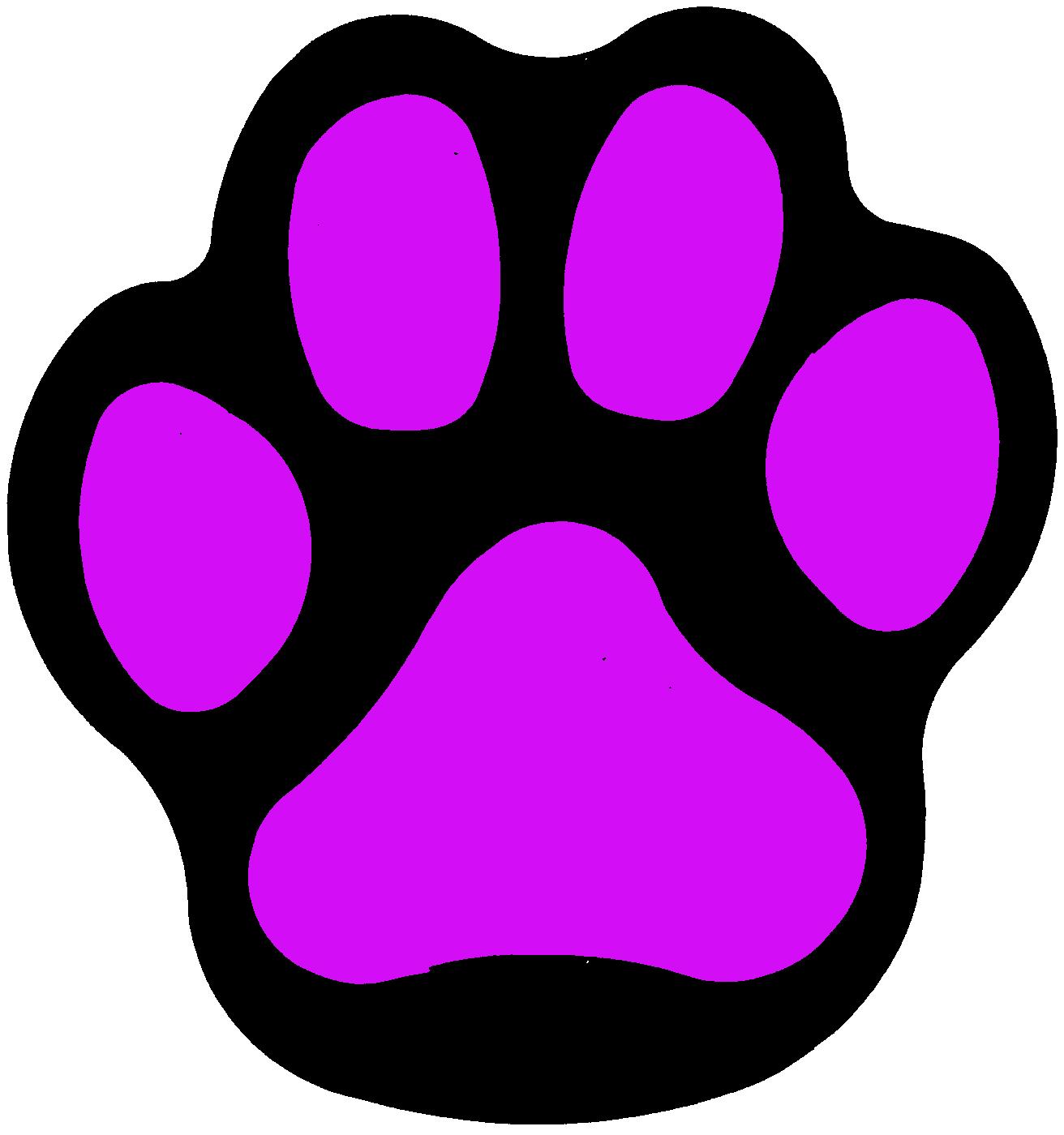 1312x1400 Purple Bobcat Paw Print Clip Art Free Image
