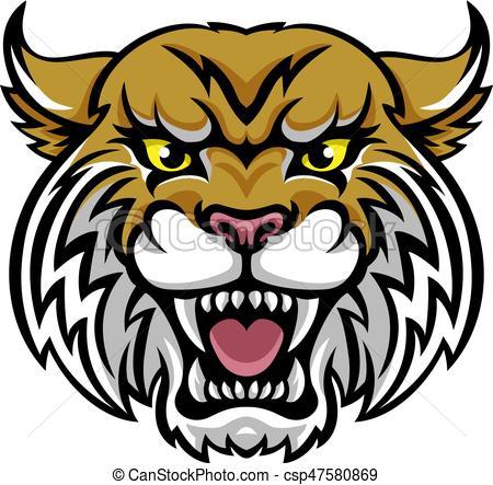 450x443 Bobcat Clipart Wildcat Bobcat Mascot An Angry Looking Wildcat