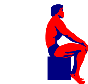 300x287 Sitting Body Builder Clip Art