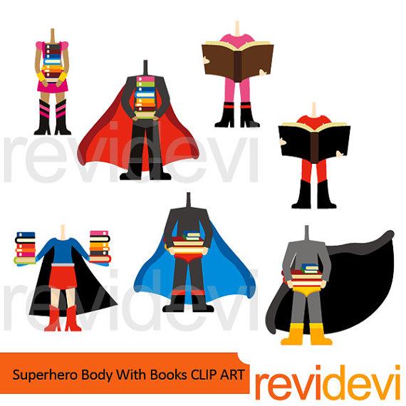 570x570 Superhero Clipart Sale Superhero Body With Books Clipart