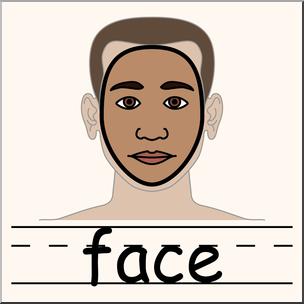 304x304 Clip Art Parts Of The Body Face Color I Abcteach
