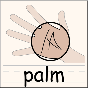 304x304 Clip Art Parts Of The Body Palm Color I Abcteach