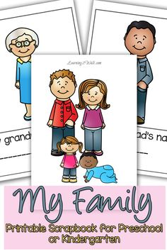 236x354 Create An All About My Family Book Craft Preschool Activities