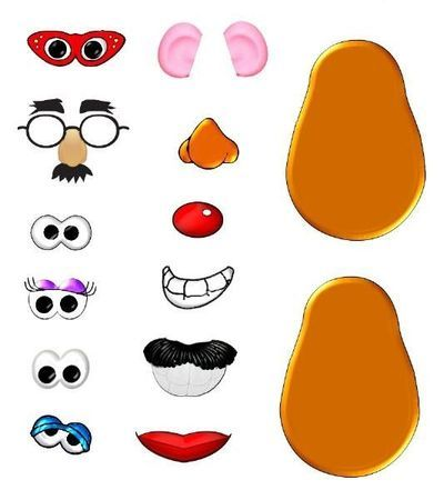 400x450 Mr Potato Head Parts Printables Clipart Numbers 0 10 Storytime