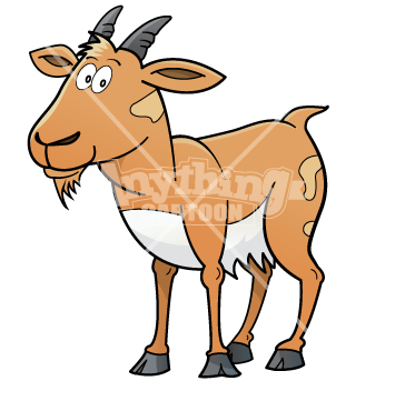 355x370 Brown Goat Clipart