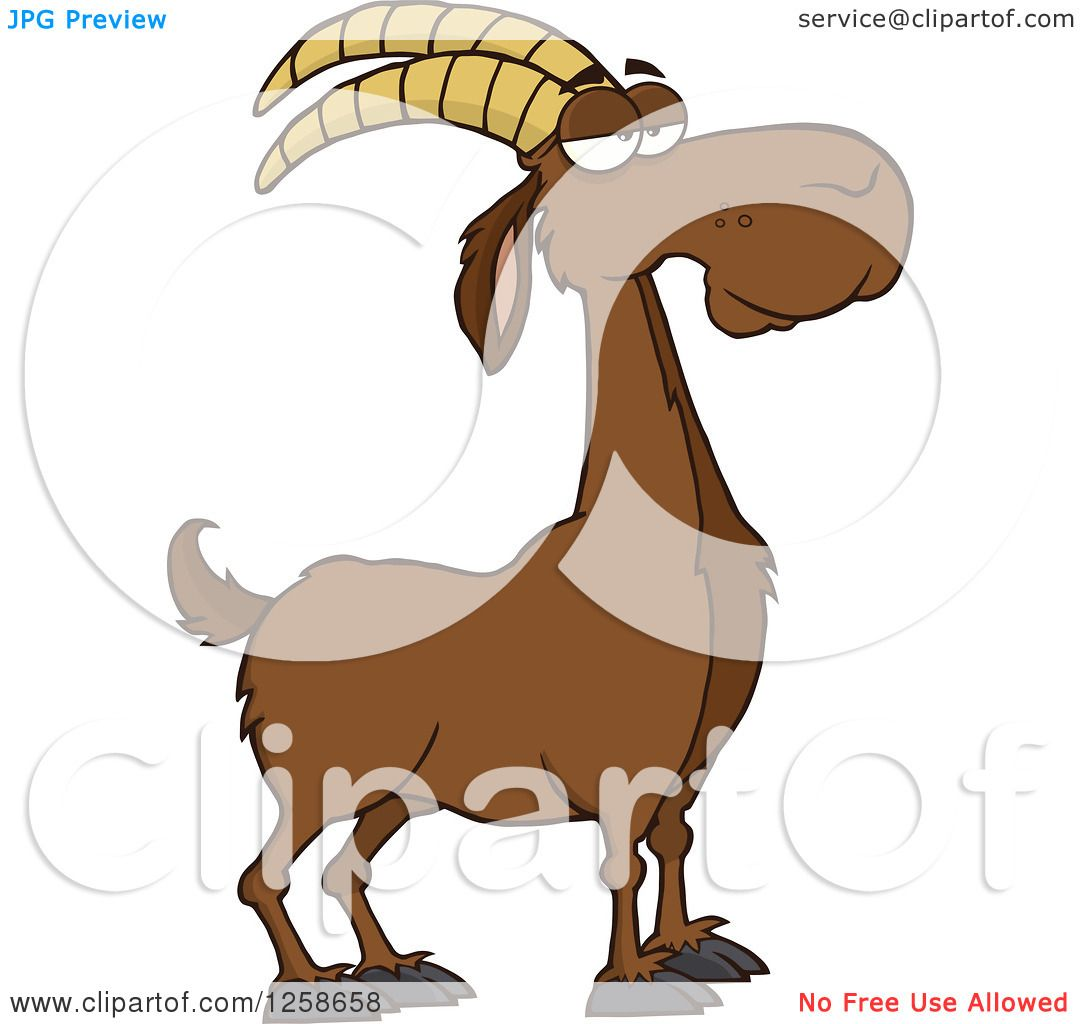 1080x1024 Clipart Of A Red Male Boer Goat Wether