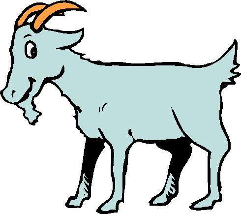 490x435 Free Goat Clipart